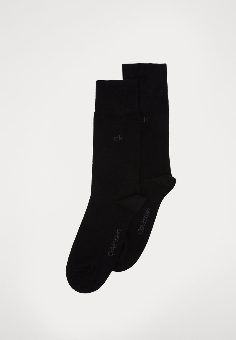 Calvin Klein Underwear - MEN CREW CASUAL 2 PACK - Socks - black
