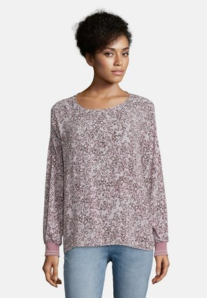 Blouse - lilac/black
