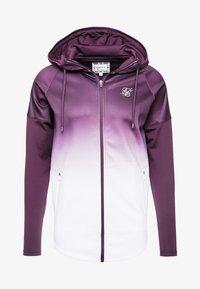 SIKSILK - ATHLETE HYBRID ZIP THROUGH HOODIE - Training jacket - rich burgundy - 3
