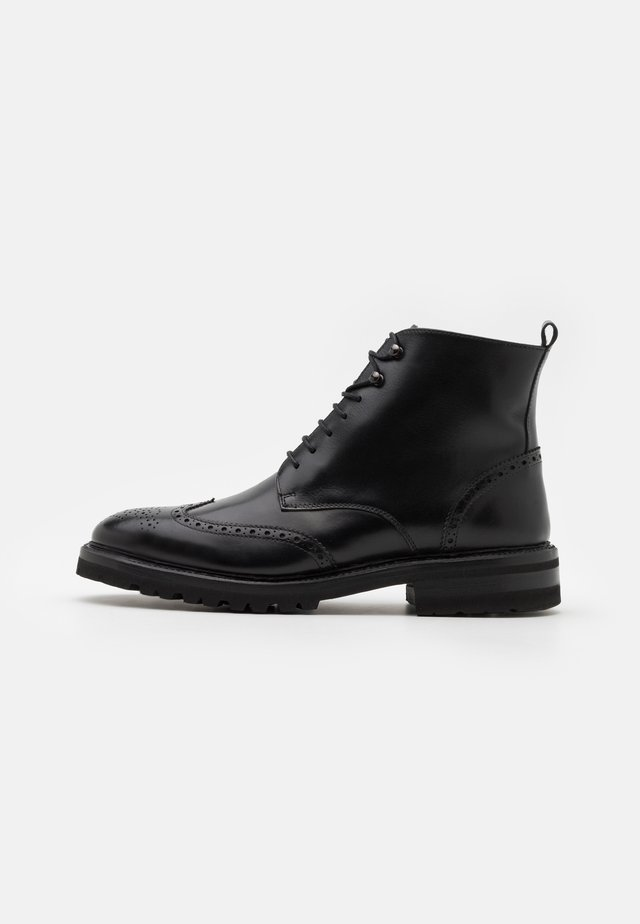 Lace-up ankle boots - orleans black