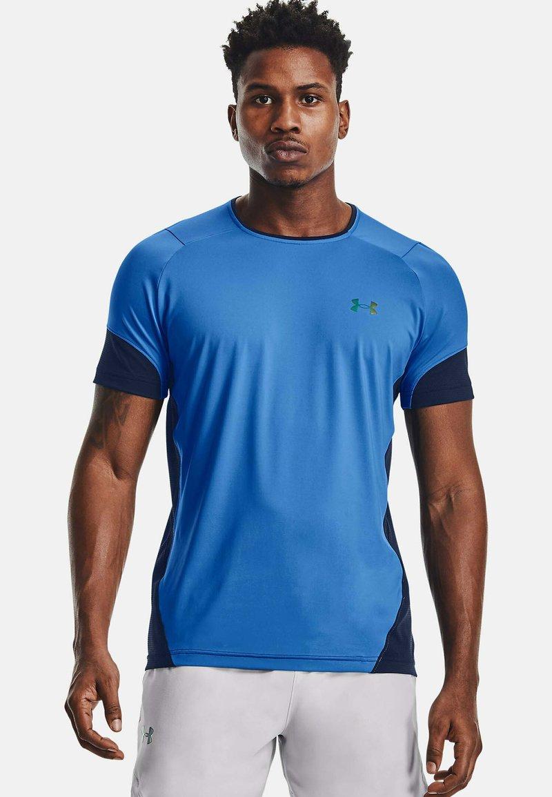 Under Armour - RUSH - Print T-shirt - blue circuit