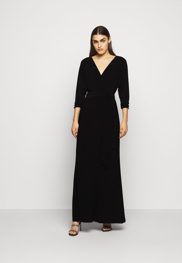 CLASSIC LONG GOWN WITH TRIM - Gallakjole - black