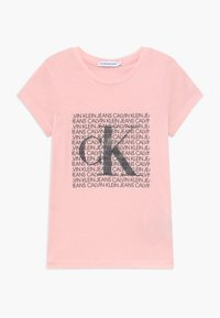 Calvin Klein Jeans - IRIDESCENT LOGO - T-shirt con stampa - pink - 0