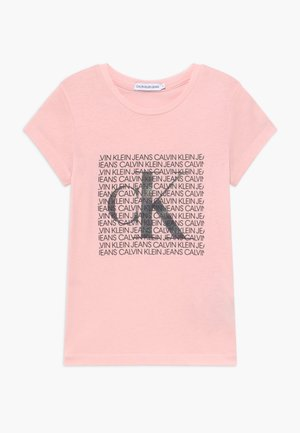 IRIDESCENT LOGO - T-shirt con stampa - pink