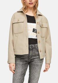 Q/S designed by - Summer jacket - beige - 3