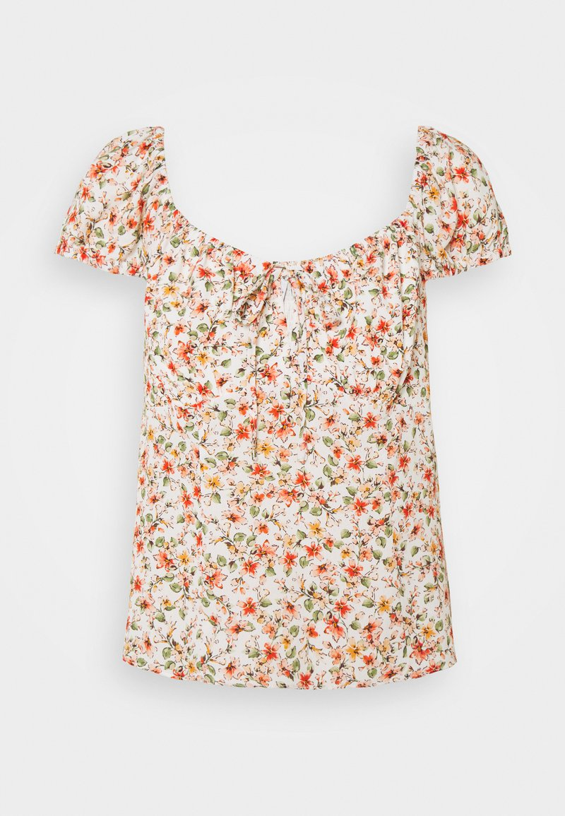 Forever New Petite - AMANDA SWEETHEART TIE FRONT - Print T-shirt - corsica