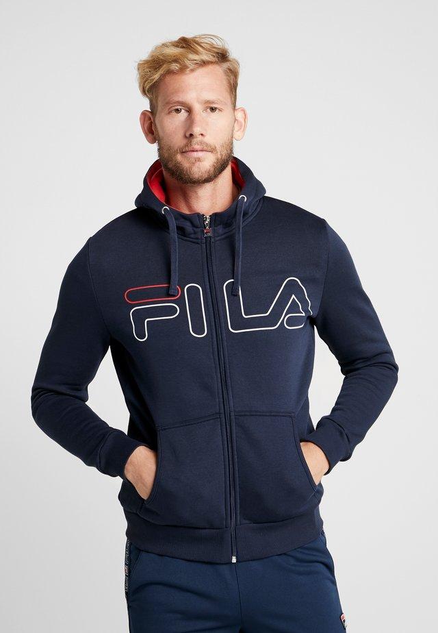 WILLI - Zip-up hoodie - peacoat blue