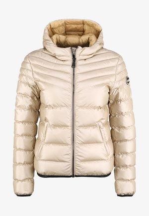 MIT KAPUZE - Down jacket - sand gold