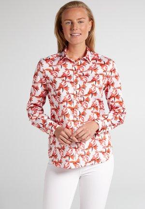 ETERNA - Button-down blouse - rot/orange
