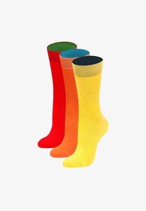 3 PACK SUNRISE - Socks - gelb, orange, rot