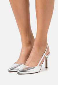 ONLY SHOES - ONLPEACHES SLING BACK - Høye hæler - silver - 0