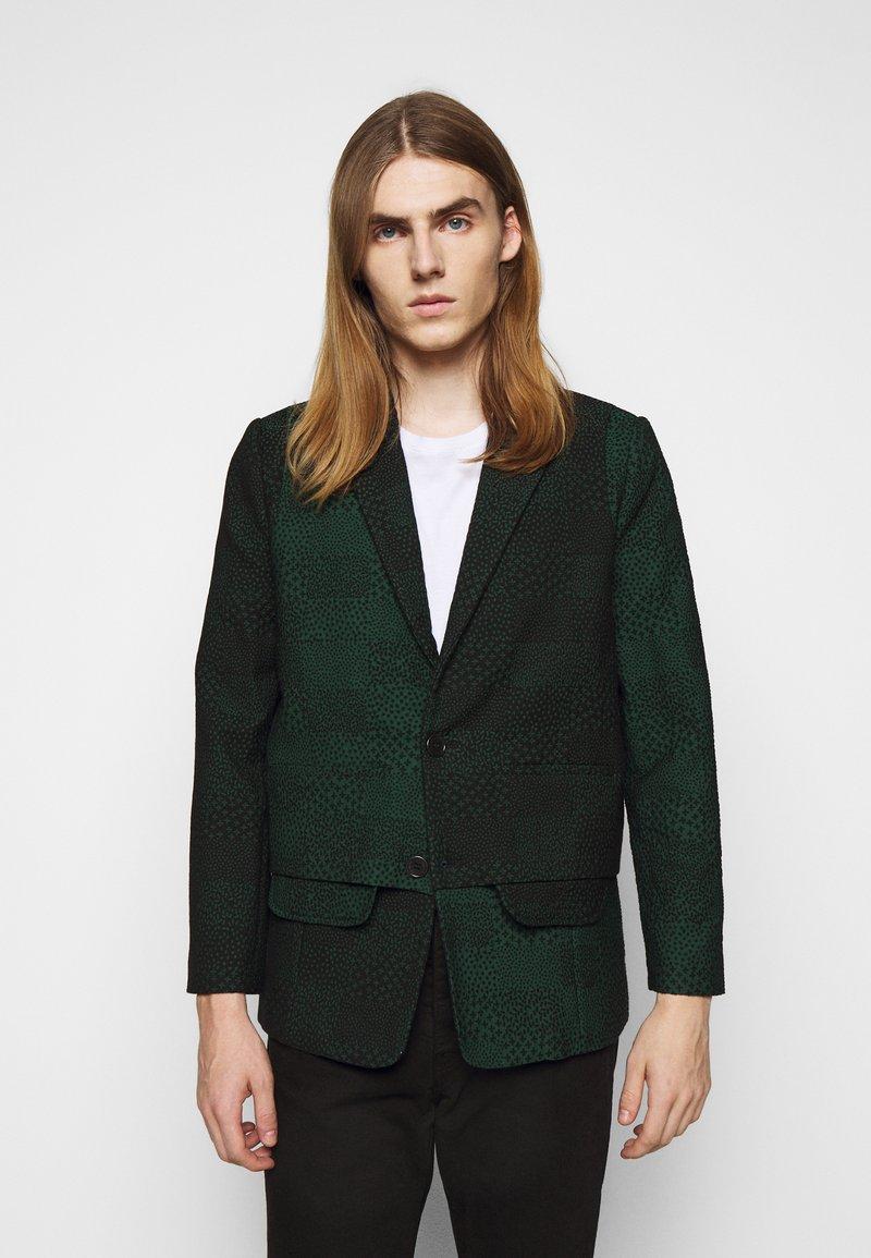 Henrik Vibskov - ANTS SHOWERTILES - Blazer jacket - black/dark green
