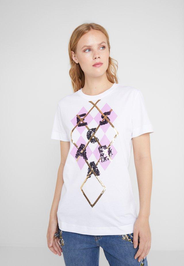 EDONATA - T-shirt z nadrukiem - white