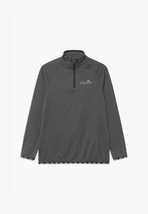 DUPLEXA ZIP UNISEX - Long sleeved top - dark grey