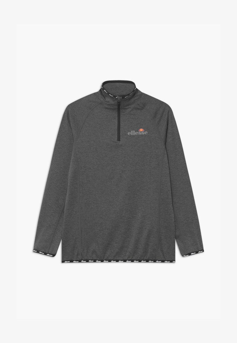 Ellesse - DUPLEXA ZIP UNISEX - Long sleeved top - dark grey