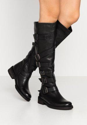 COOPER - Cowboy/Biker boots - belga black