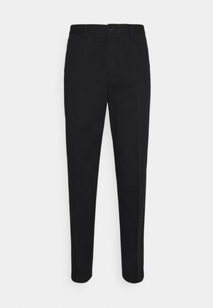WILLIAM COTTON TROUSER - Kangashousut - black