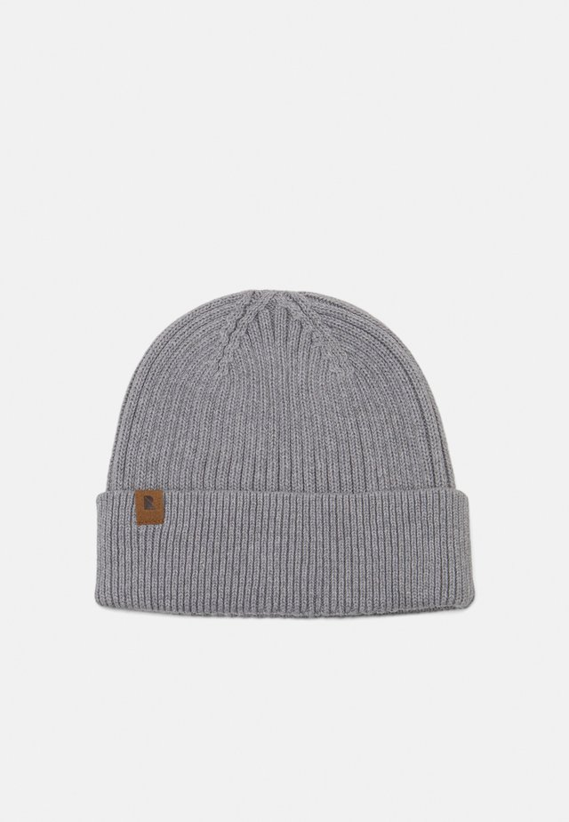 SHORT BEANIE - Lue - light grey mélange