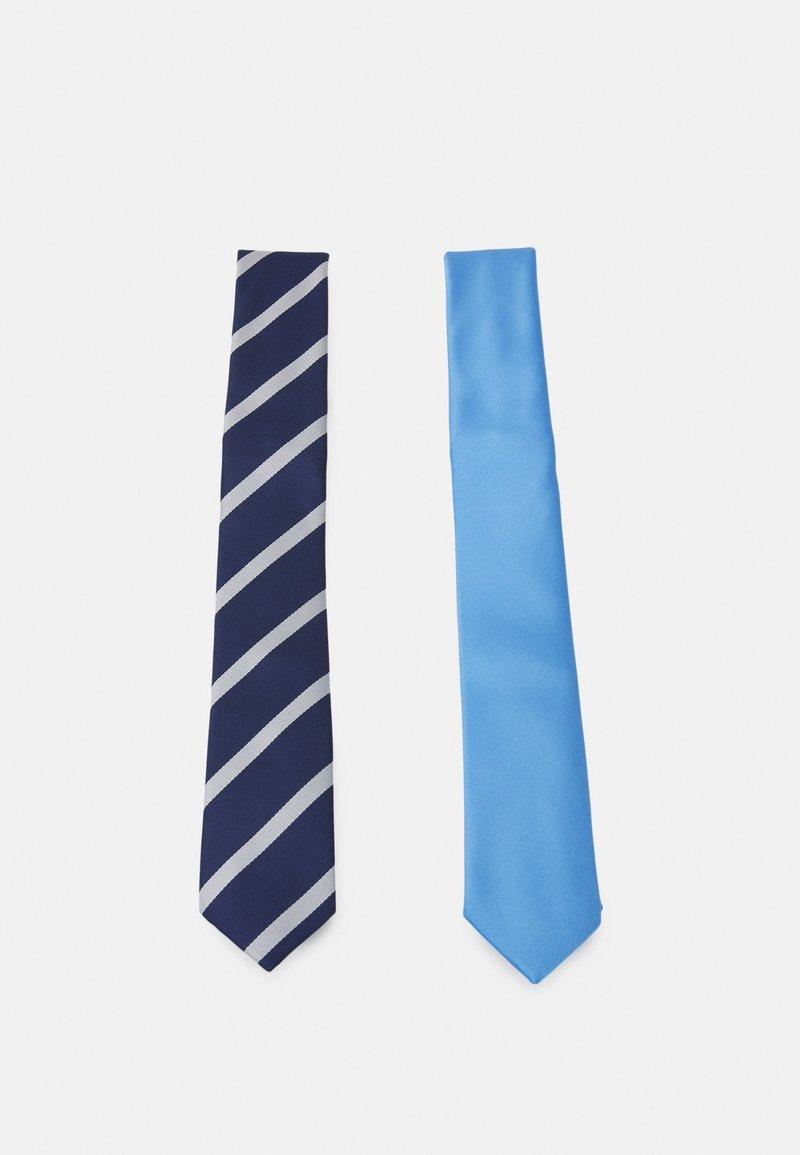 Pier One - 2 PACK - Krawat - dark blue/light blue
