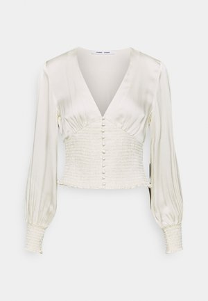 LEILA BLOUSE - Blůza - clear cream