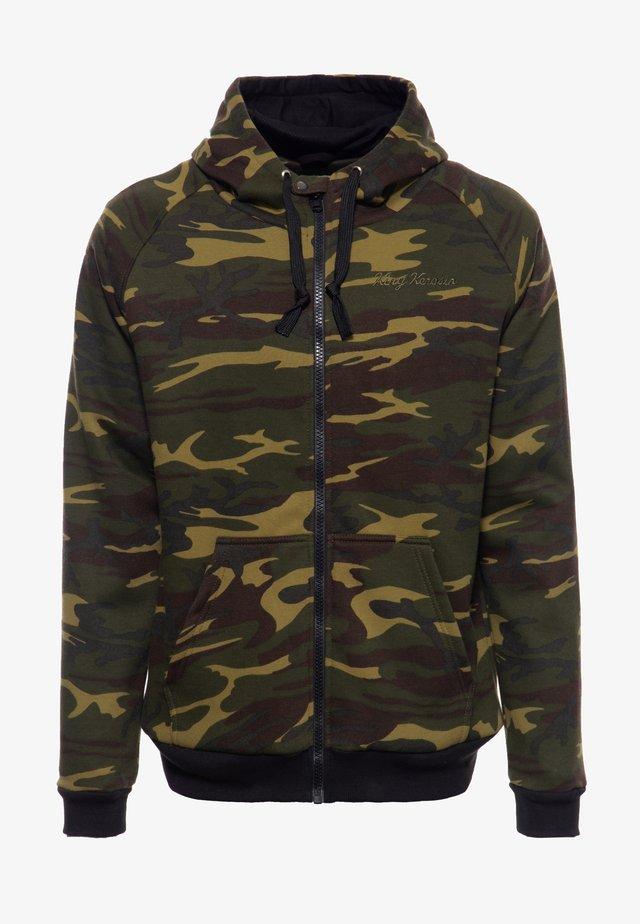 veste en sweat zippée - tarnfarben