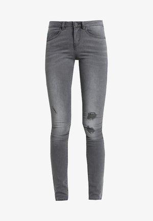 NMLUCY COFFEE JEANS  - Jeans Skinny Fit - medium grey denim