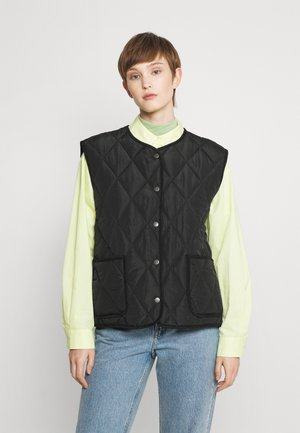 NMLUNA QULITED VEST - Waistcoat - solid black
