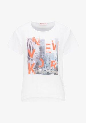 T-SHIRT MIT NEW YORK-PRINT - Print T-shirt - white