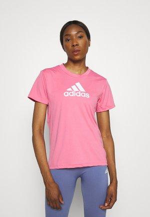 Camiseta estampada - rose tone/white