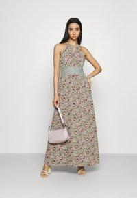 Vila - VIMILINA FLOWER DRESS - Occasion wear - green milieu/red/pink - 1