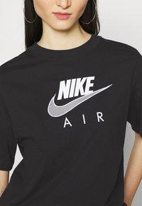Nike Sportswear - AIR  - T-shirt con stampa - black/white - 4