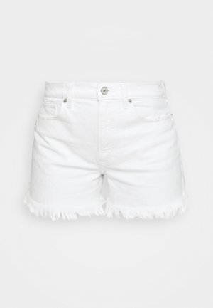 CURVE LOVE HIGH RISE MOM - Jeansshorts - white