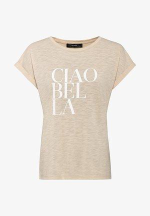 MIT CIAO BELLA PRINT - Print T-shirt - hellbeige