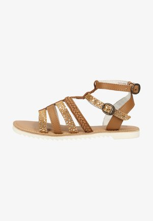 Ankle cuff sandals - marron camel