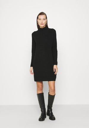 FUNNEL DRESS - Jumper dress - black