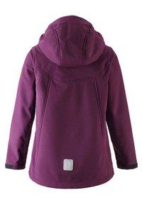 Reima - VANDRA UNISEX - Soft shell jacket - deep purple - 1