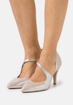 Høye hæler - taupe metallic
