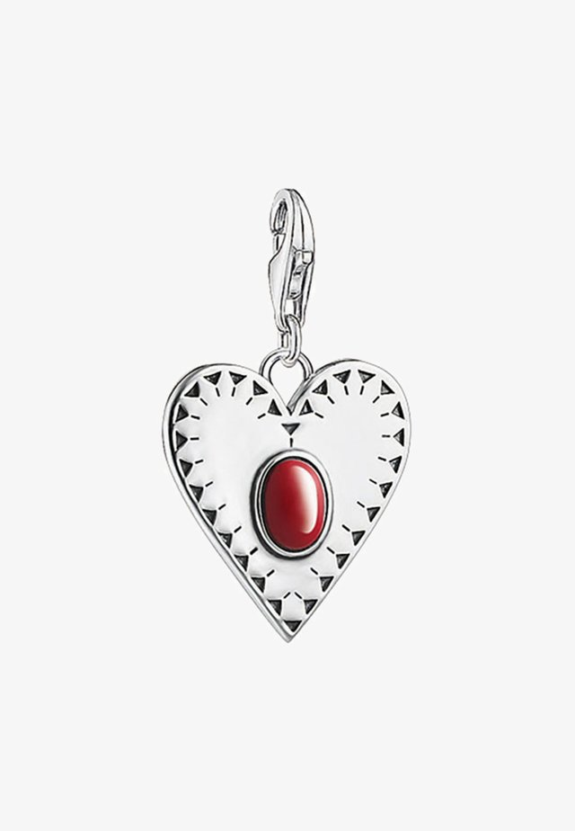 Pendant - silver/red