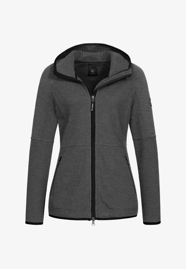 MERINOWOOLHOODED - Summer jacket - nachtgrau