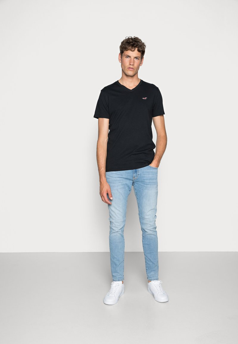 Hollister Co. - 3 PACK - T-shirt basique - black/white/grey