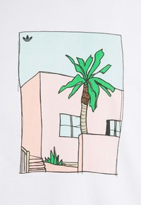 adidas Originals - HAND DRAWN TEE - Print T-shirt - white - 5