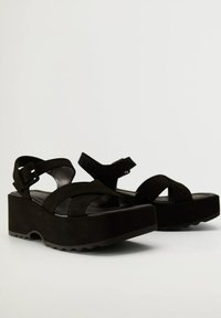 Mango - SPICY - Platform sandals - schwarz - 5