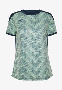 Puma - GRAPHIC - Camiseta estampada - dark denim/mist green - 3
