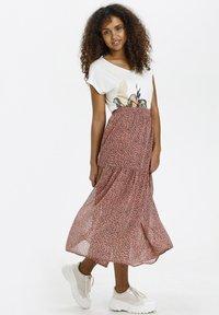 Kaffe - BPFILUA - A-line skirt - old rose with black flowes - 1