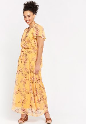 BUTTERFLY - Maxi-jurk - yellow