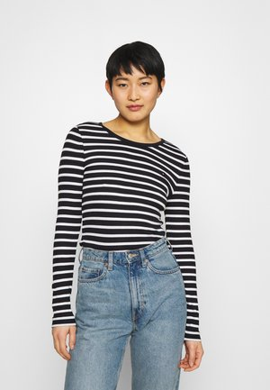 SKINNY OPEN  - Long sleeved top - desert sky/white