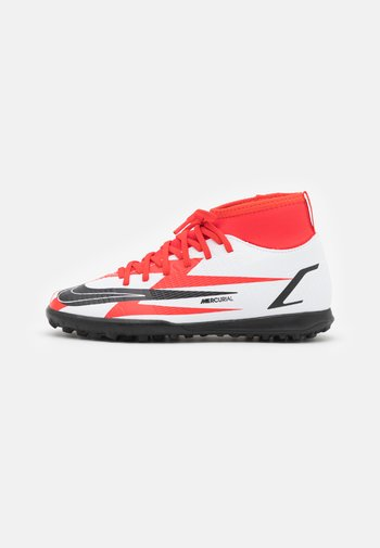 MERCURIAL 8 CLUB CR7 TF - Astro turf trainers - chile red/black/white/total orange