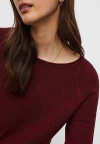 Vero Moda - VMNELLIE GLORY LONG  - Jumper - cabernet - 3