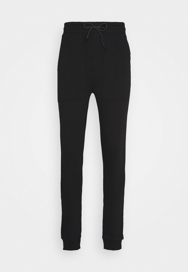 JOGGER LABEL UNISEX - Trainingsbroek - black