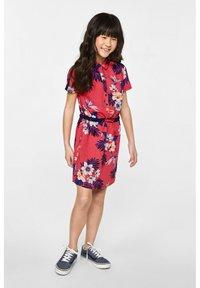 WE Fashion - WE FASHION MEISJES OVERHEMDJURK MET DESSIN - Vestido camisero - red - 0